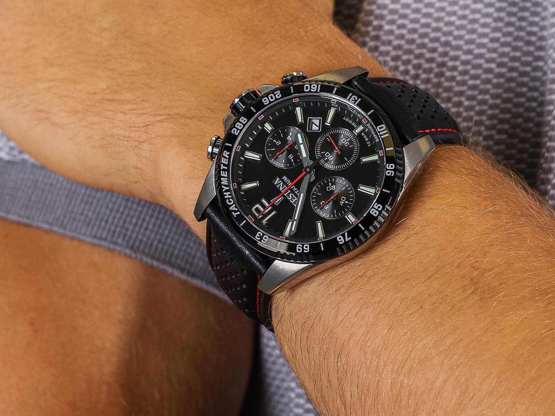 Festina F20521-4 Titanium Sport Chrono Sapphire zegarek sportowy Titanium