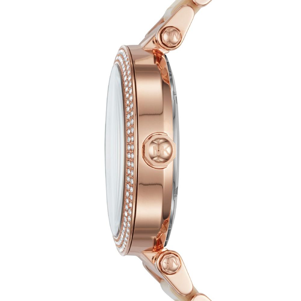 Michael Kors MK6530 zegarek różowe złoto klasyczny Parker bransoleta