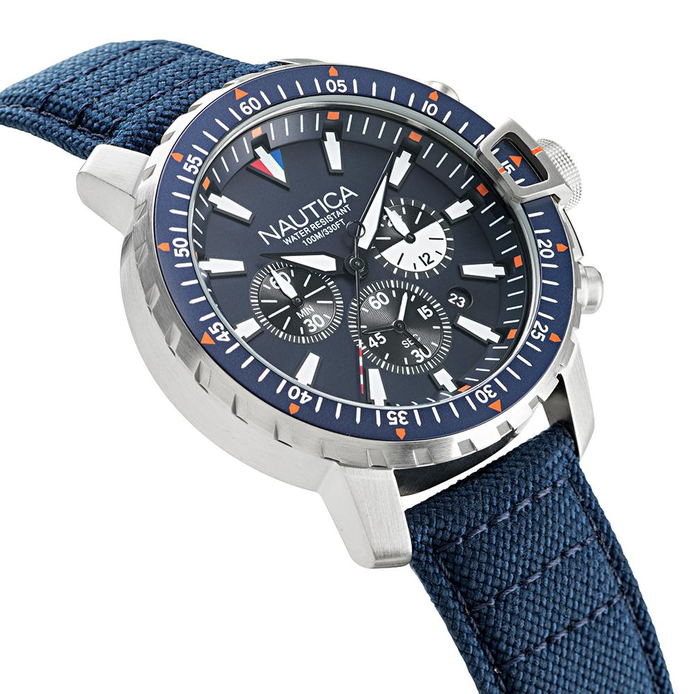 zegarek Nautica NAPICS006 ICEBREAKER męski z chronograf Pasek