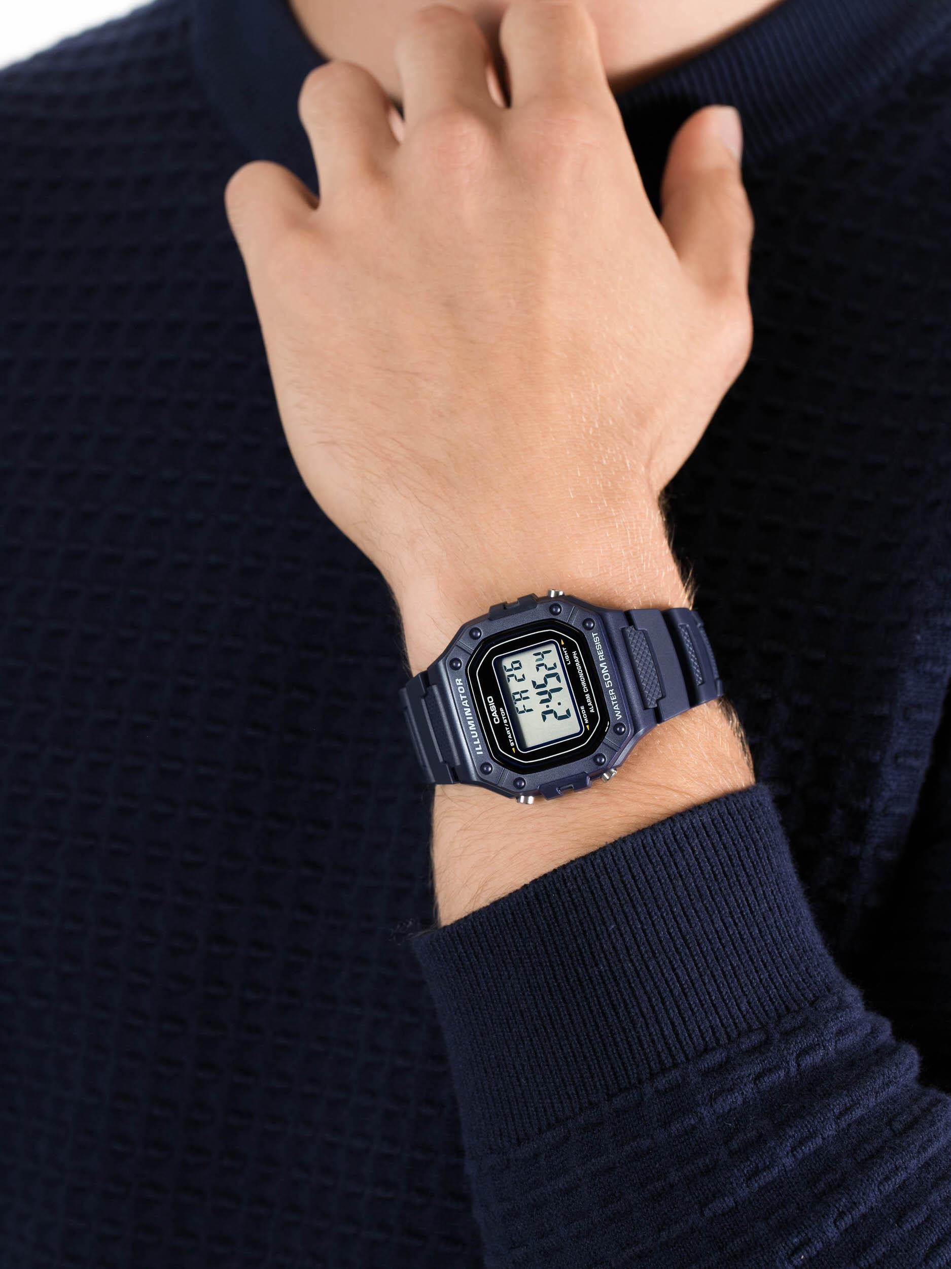 Casio W-218H-2AVEF męski zegarek Sportowe pasek