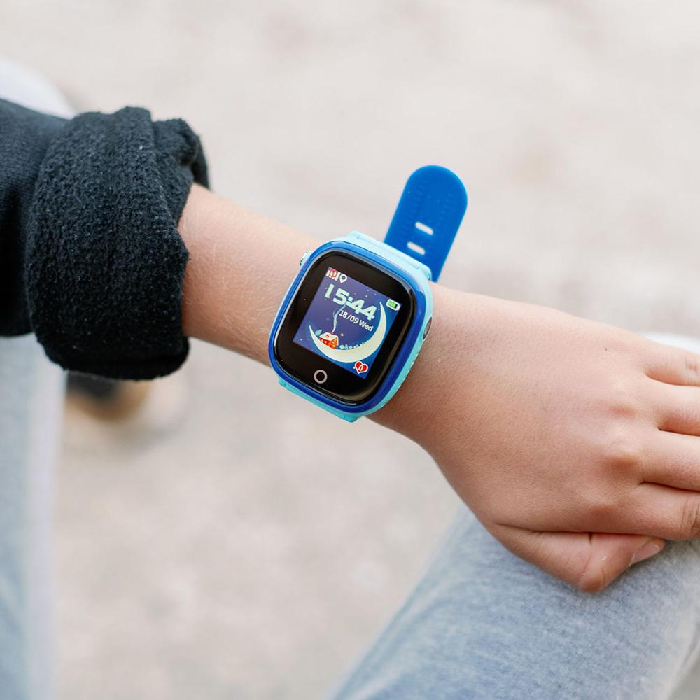 zegarek Garett 5903246280555 Smartwatch Garett Kids Happy Niebieski dla dzieci z gps Dla dzieci