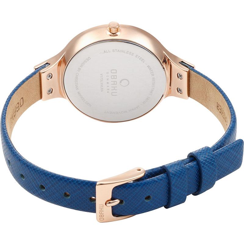 Obaku Denmark V173LXVLRA SKY - NAVY zegarek fashion/modowy Slim