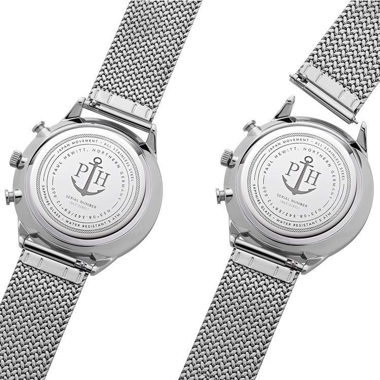 zegarek Paul Hewitt PH-C-S-W-50M męski z chronograf Chrono Line