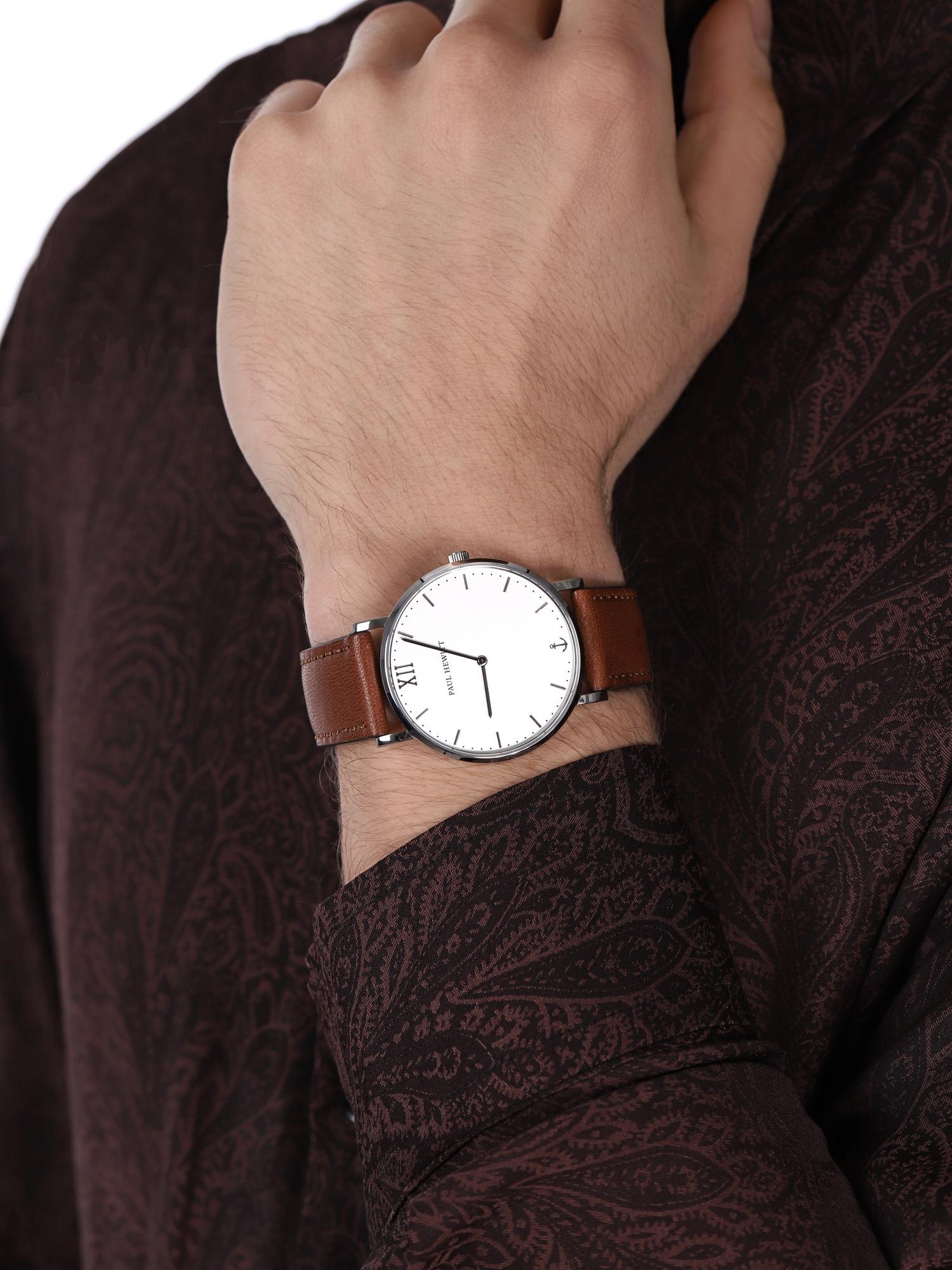 zegarek Paul Hewitt PH-SA-S-ST-W-1M srebrny Sailor Line
