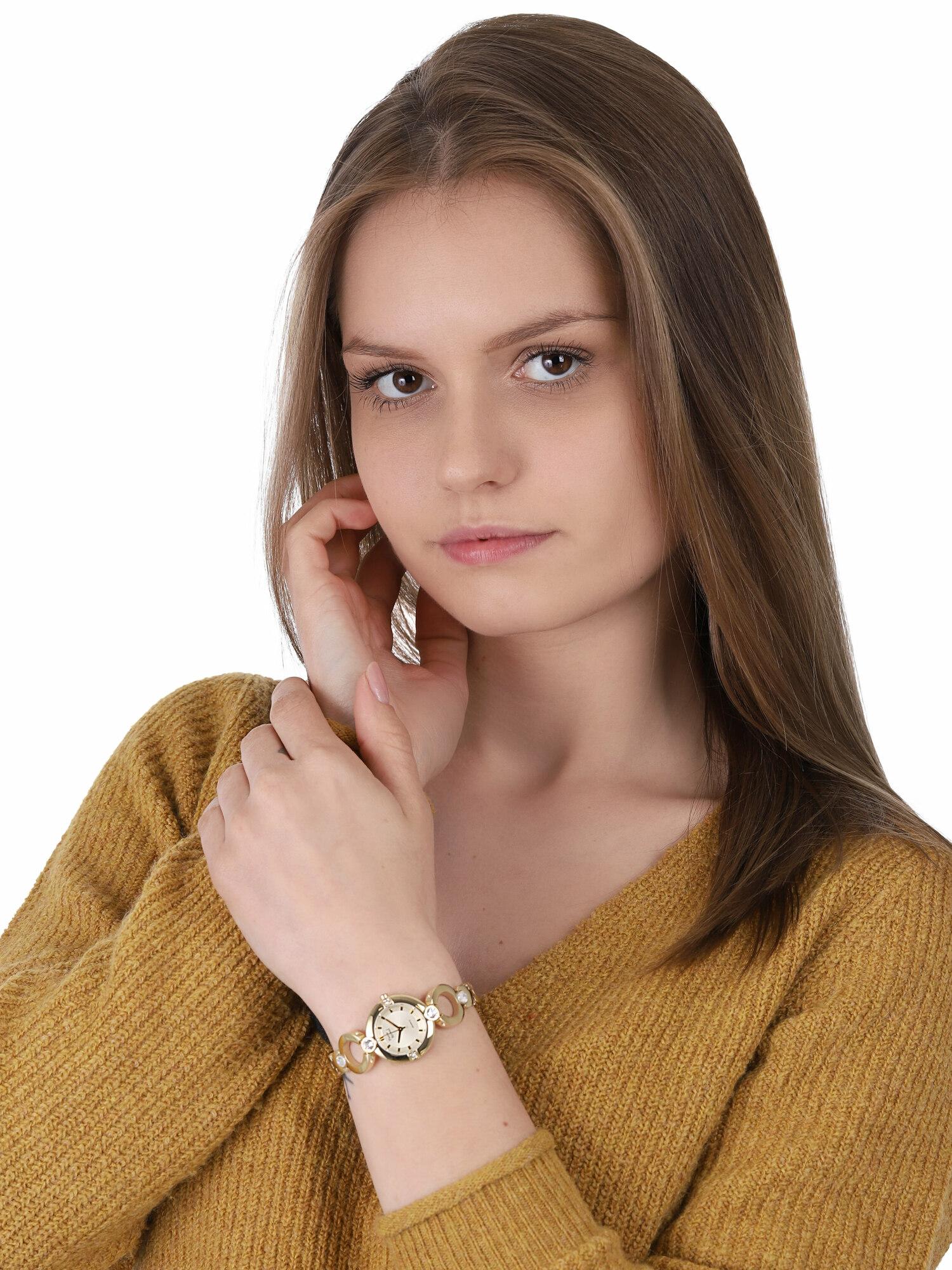 zegarek Pierre Ricaud P21070.1111QZ złoty Bransoleta