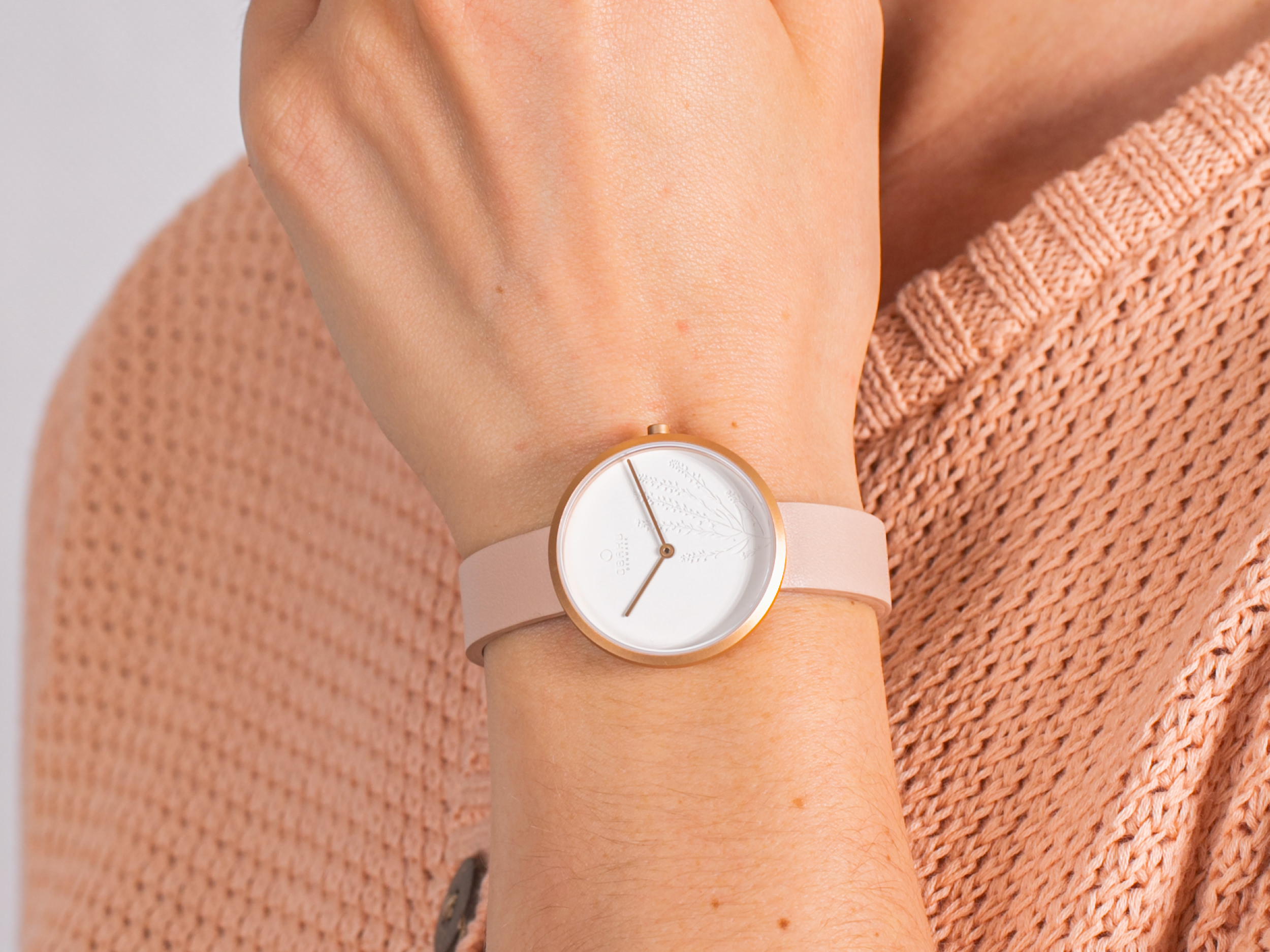 Obaku Denmark V219LXVHRX HASSEL NATUR - NUDE zegarek klasyczny Slim