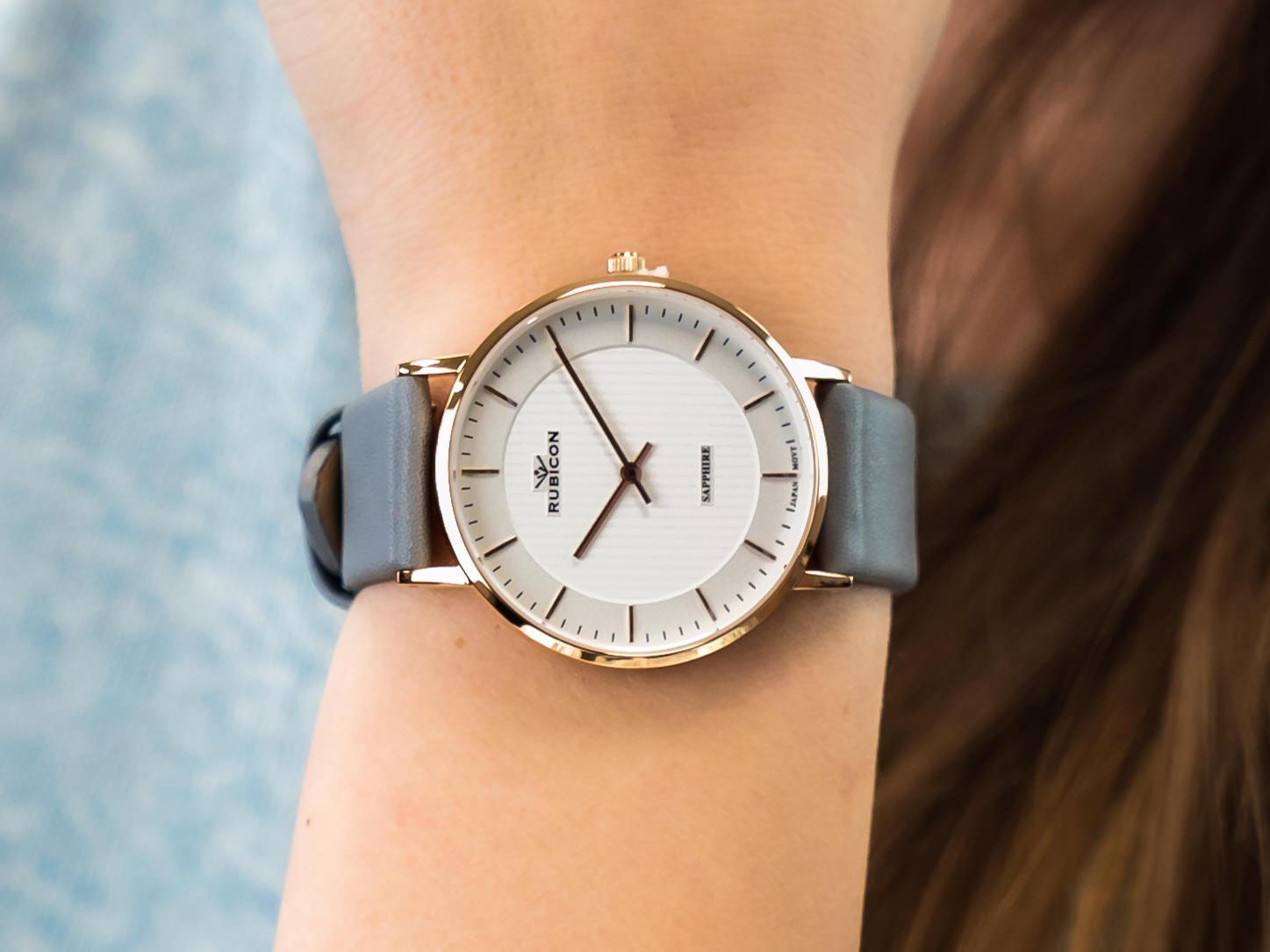 Rubicon RNAD75RISX03B1 zegarek klasyczny Pasek