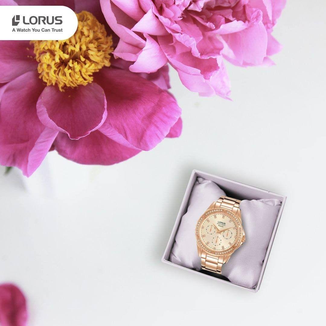 Lorus RP646DX9 zegarek różowe złoto sportowy Fashion bransoleta