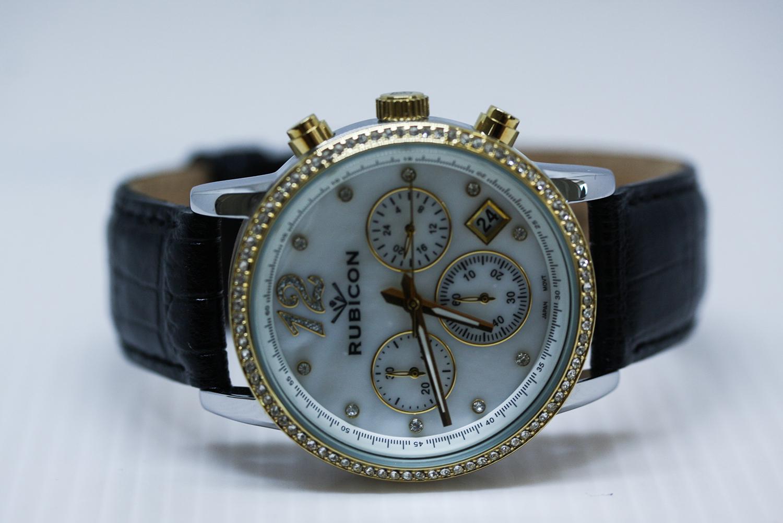 zegarek Rubicon RNBD10TIMX03AX-POWYSTAWOWY damski z chronograf Bransoleta