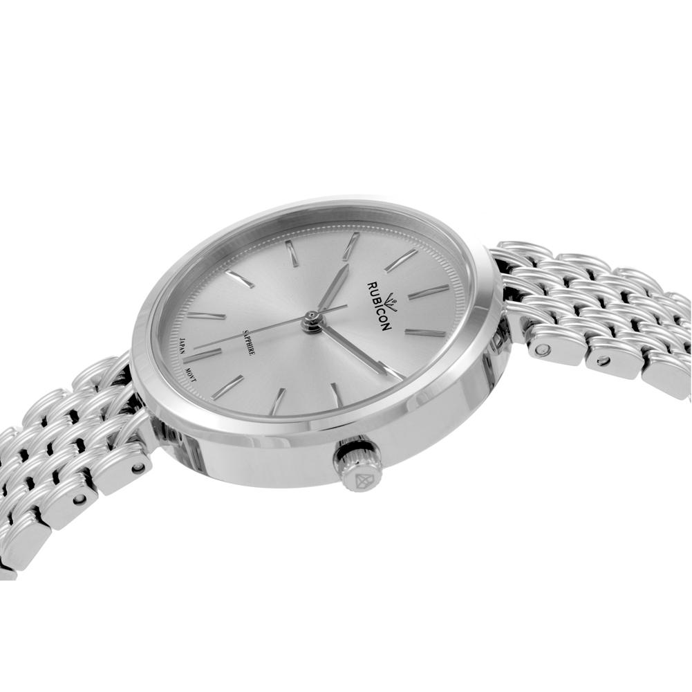 Rubicon RNBE33SISX03BX zegarek srebrny klasyczny Bransoleta bransoleta