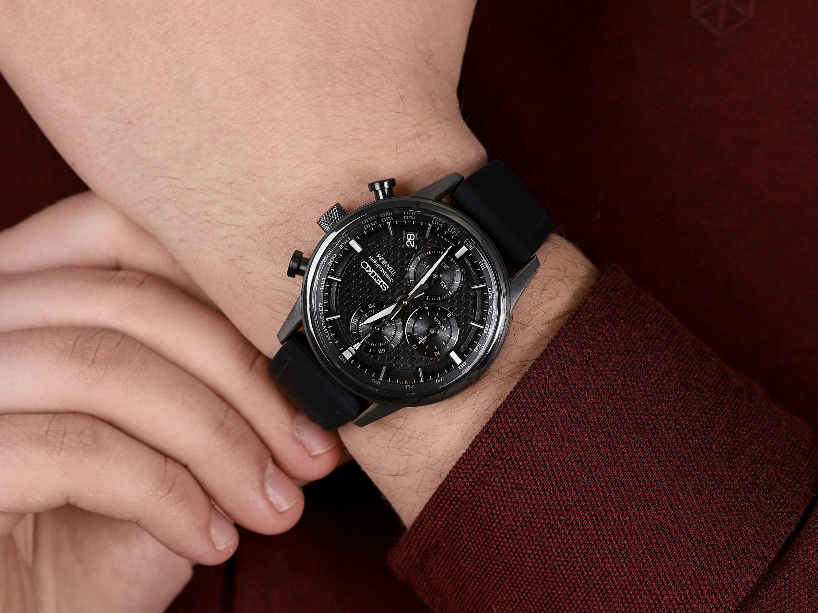 zegarek Seiko SSB393P1 Chronograph Titanium męski z tachometr Chronograph