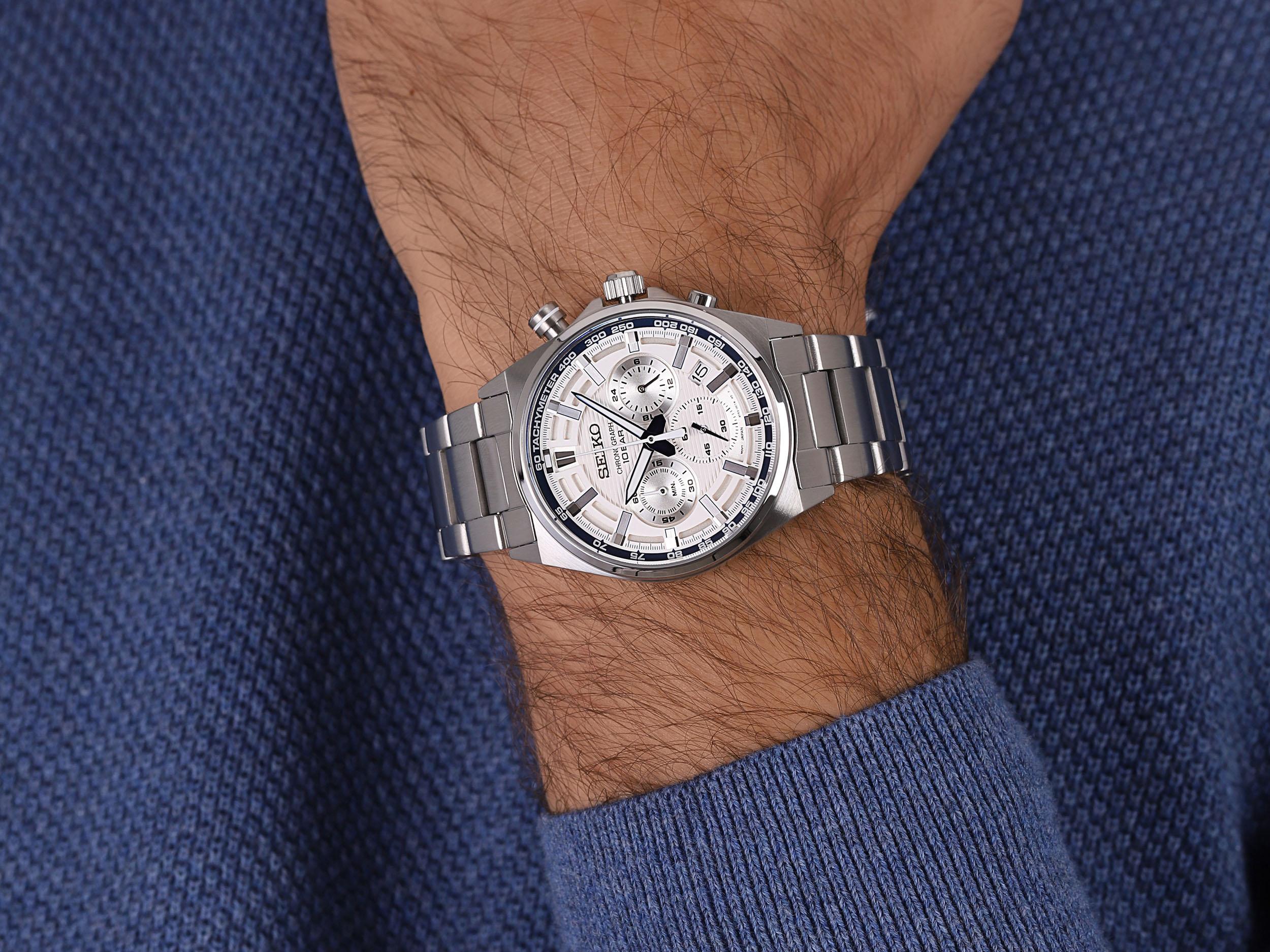 zegarek Seiko SSB395P1 Chronograph Quartz 100m męski z tachometr Chronograph