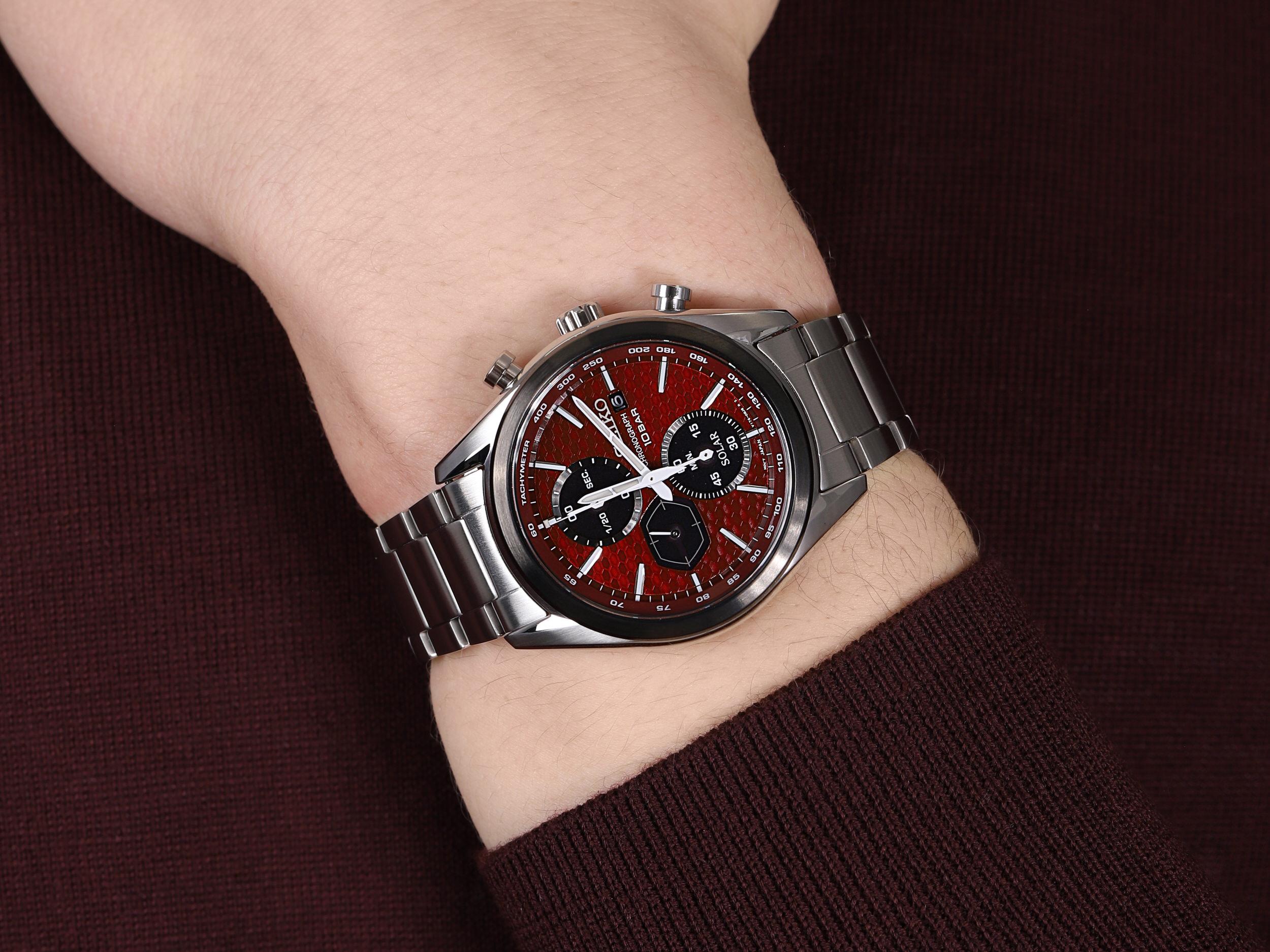 zegarek Seiko SSC771P1 męski z tachometr Chronograph