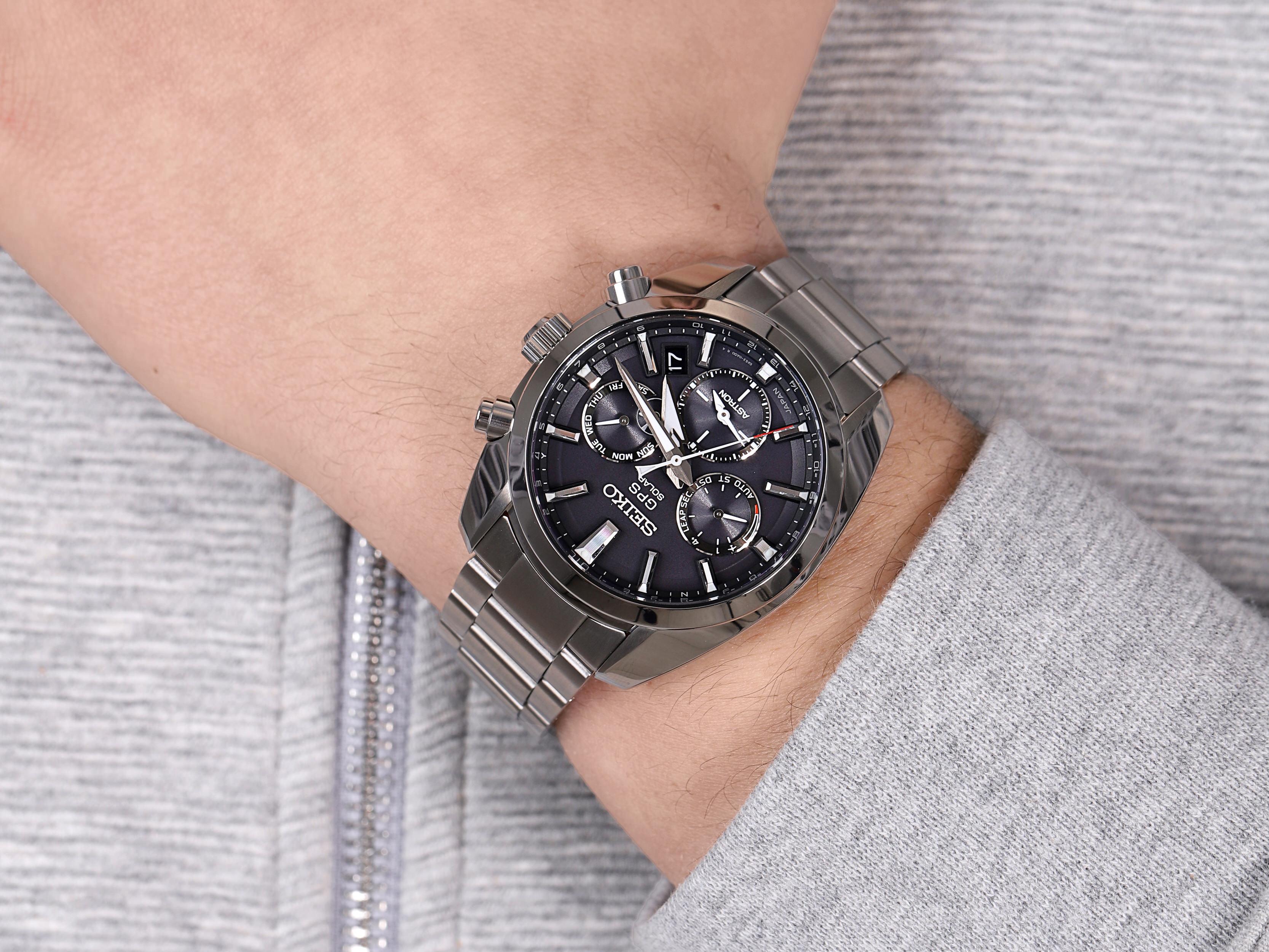 zegarek Seiko SSH021J1 Astron GPS Solar Dual Tim męski z gps Astron