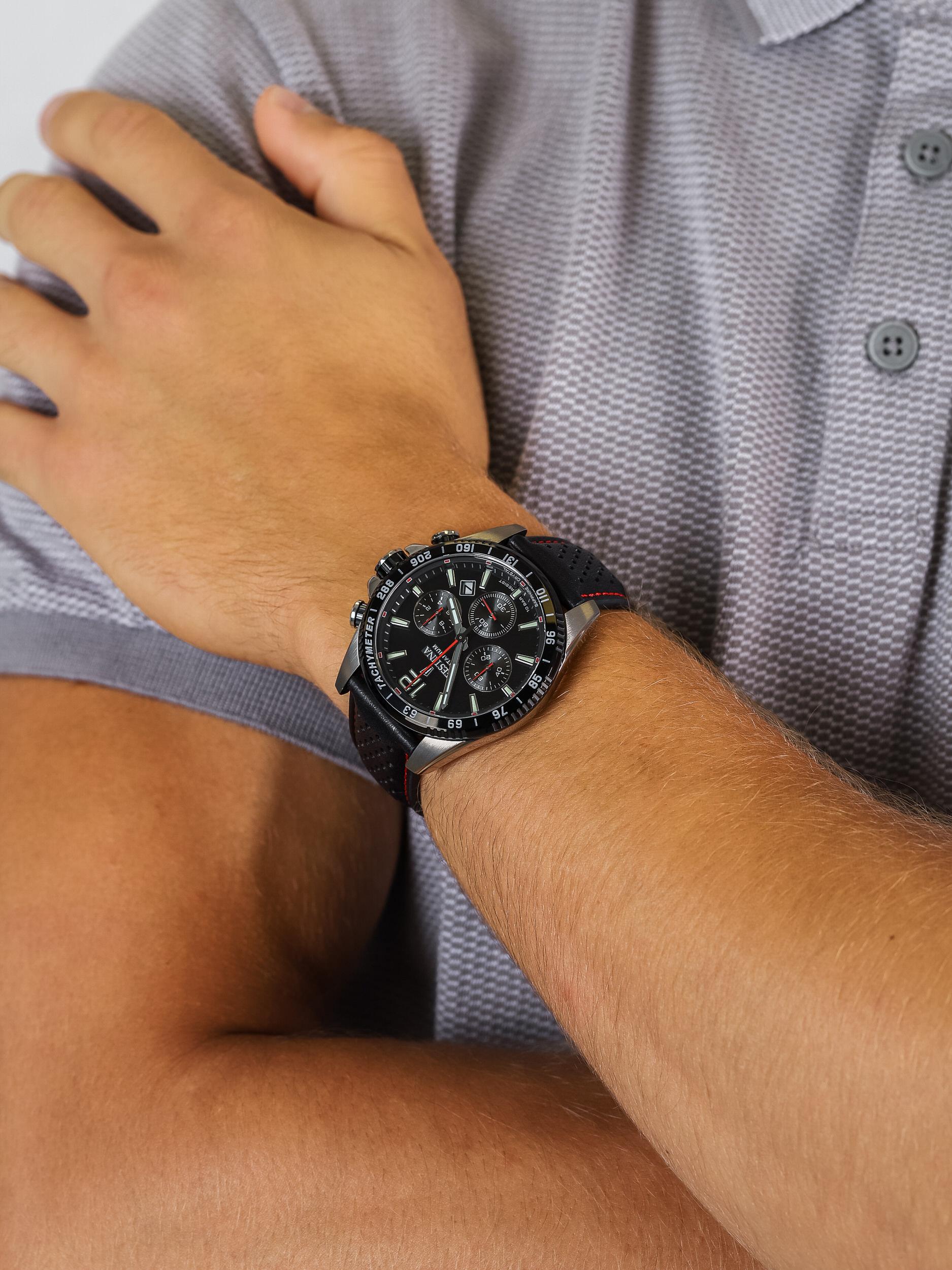 zegarek Festina F20521-4 Titanium Sport Chrono Sapphire męski z tachometr Titanium