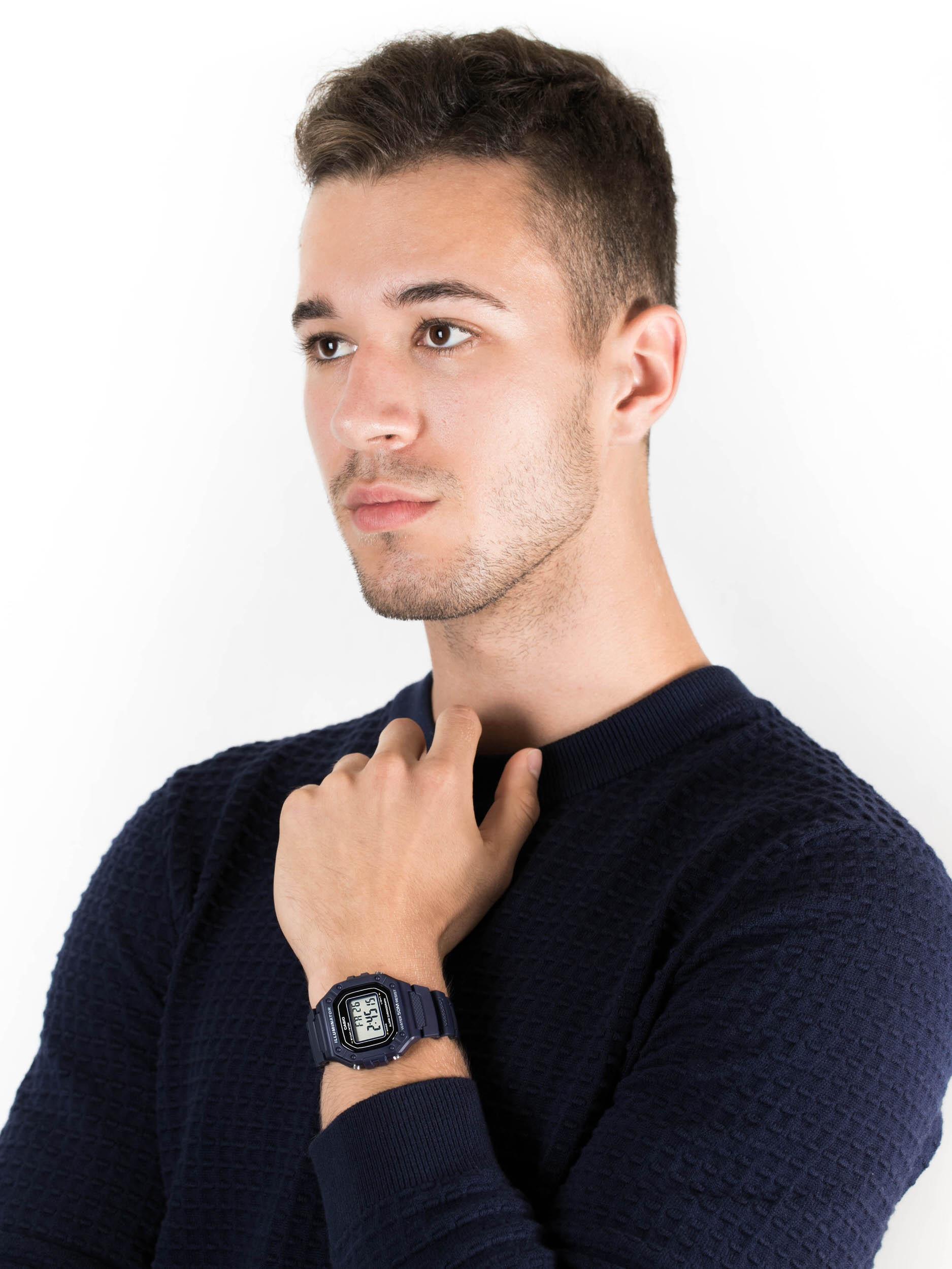 Casio W-218H-2AVEF zegarek męski Sportowe