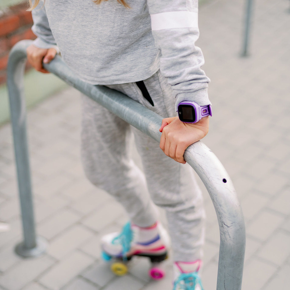 Garett 5903246280548 zegarek fioletowy sportowy Dla dzieci pasek