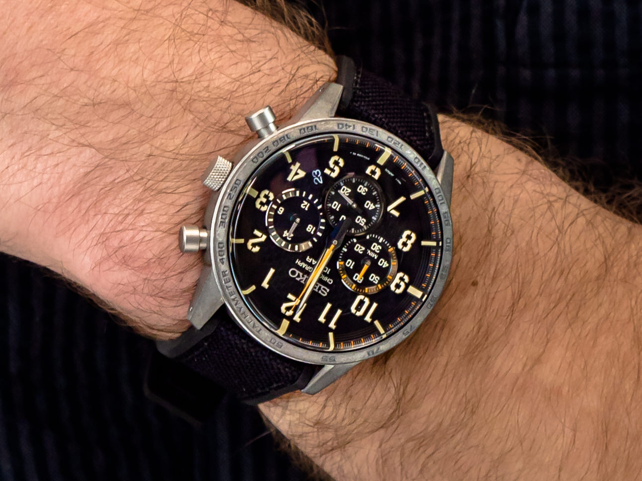Seiko SSB367P1 zegarek sportowy Chronograph