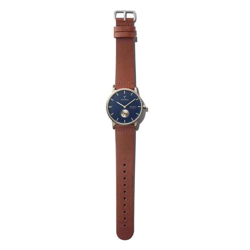 Triwa FAST104-CL010217 zegarek złoty klasyczny Falken pasek