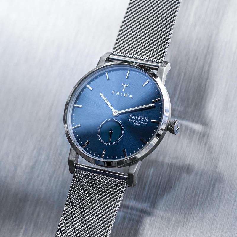zegarek Triwa FAST121-ME021212 kwarcowy męski Falken BLUE RAY FALKEN - STEEL MESH