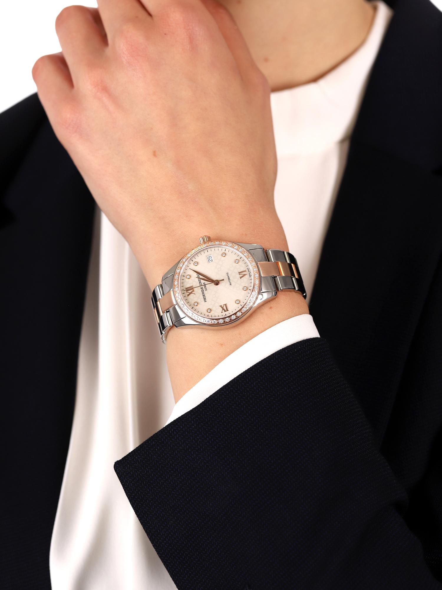 Frederique Constant FC-303LGD3BD2B damski zegarek Ladies Automatic bransoleta
