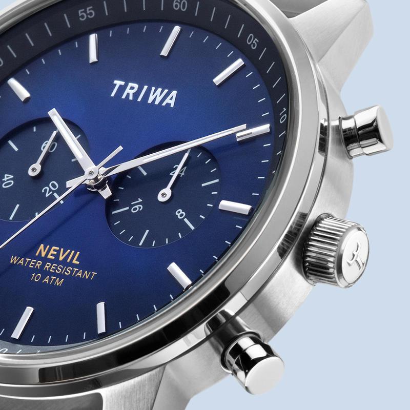 zegarek Triwa NEST130-BR021212 NORDIC NEVIL męski z chronograf Nevil