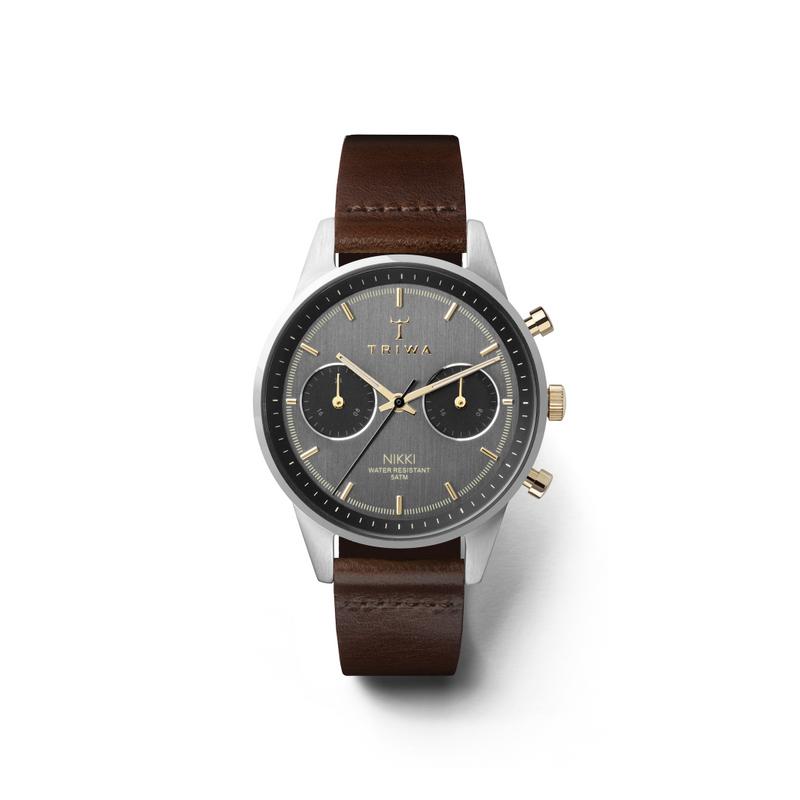 Triwa NKST103-SS010412 zegarek srebrny klasyczny Nikki pasek