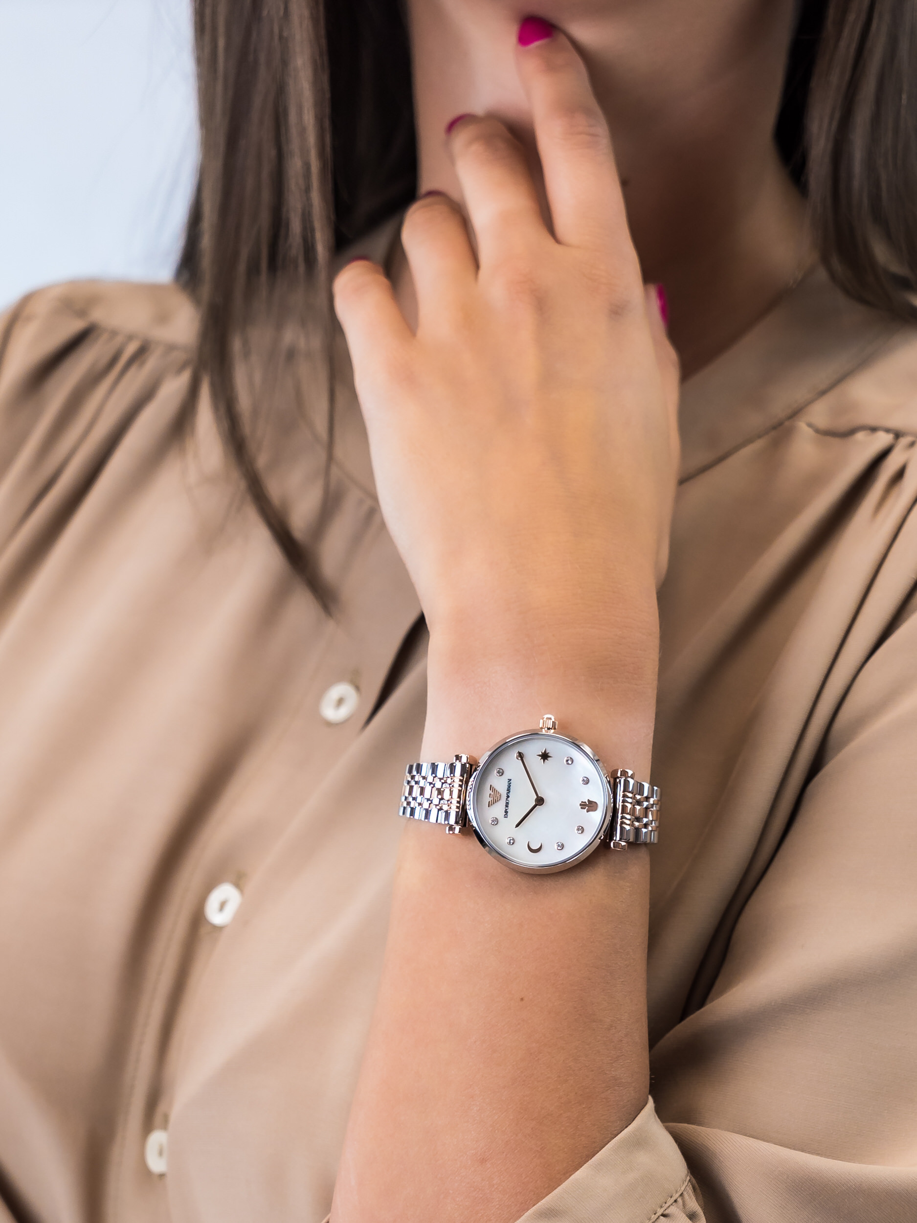 Emporio Armani AR80037 damski zegarek Ladies bransoleta