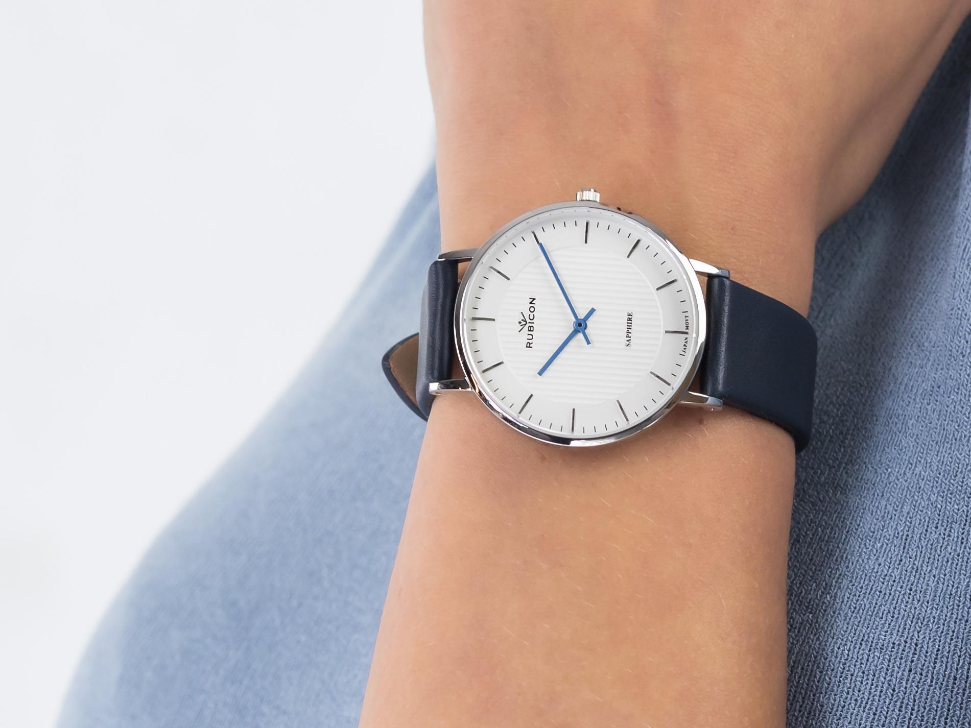 Rubicon RNAD75SISX03BX zegarek klasyczny Pasek