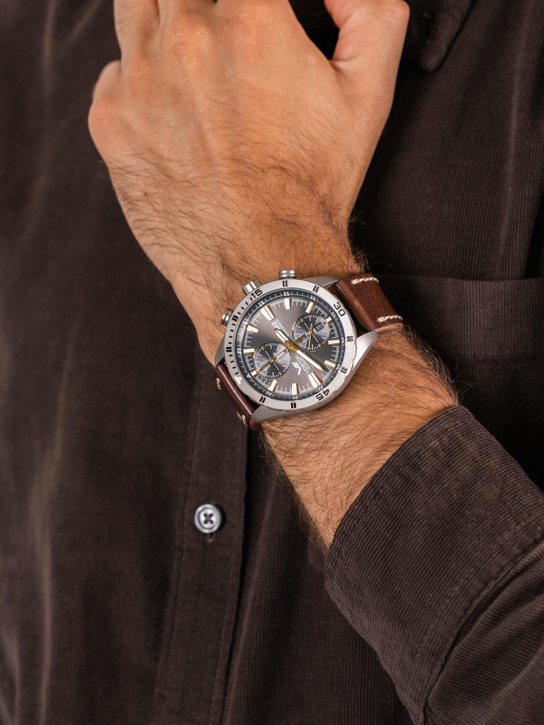 zegarek Vostok Europe 6S11-320H521 Almaz Titan męski z chronograf Almaz