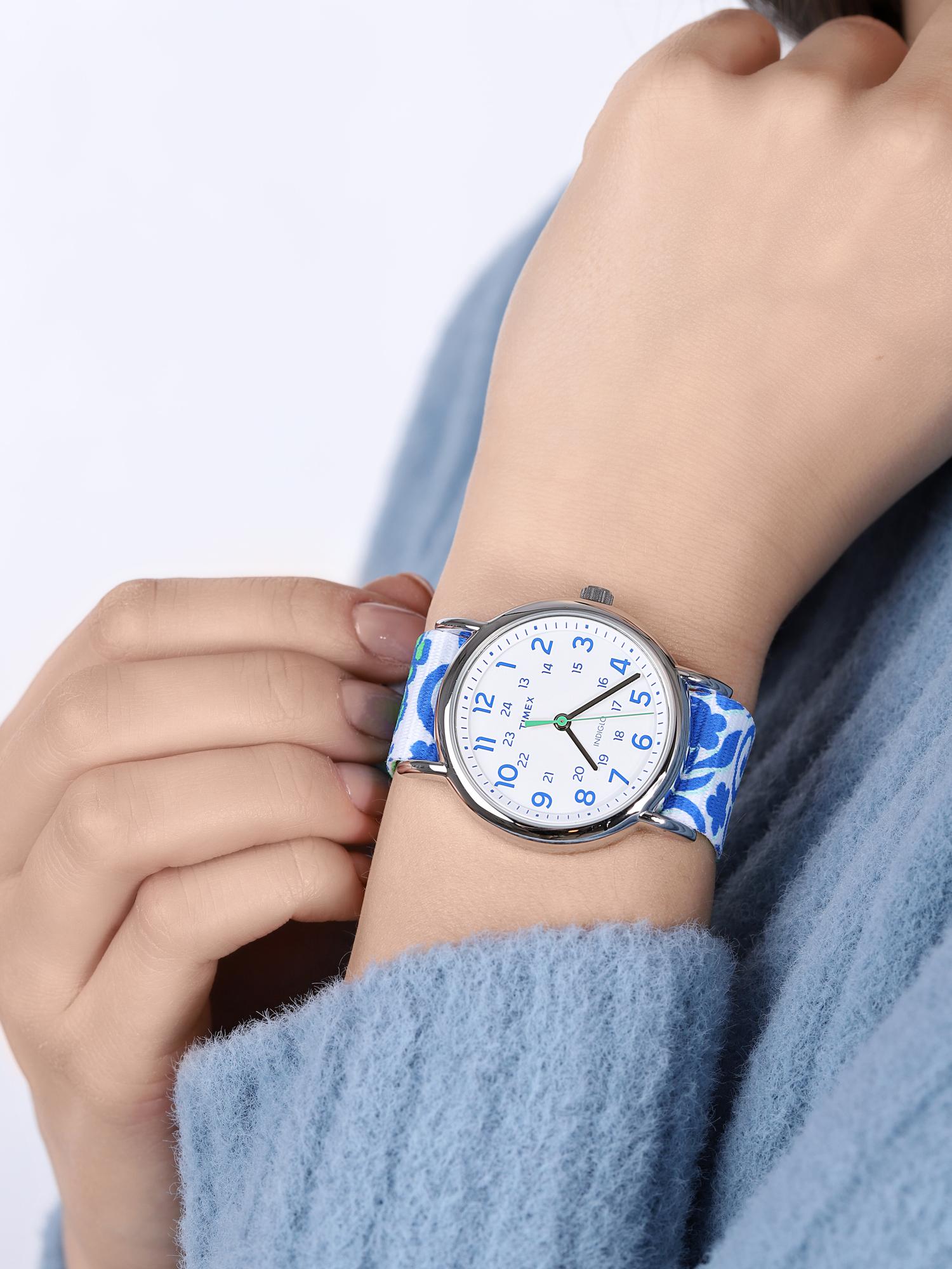 zegarek Timex TW2P90300 kwarcowy damski Weekender Weekender Seasonal Reversible Floral