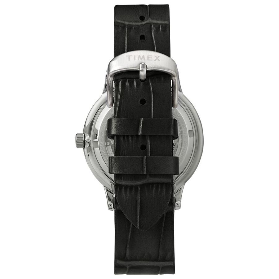 Timex TW2U11500 zegarek srebrny klasyczny Waterbury pasek