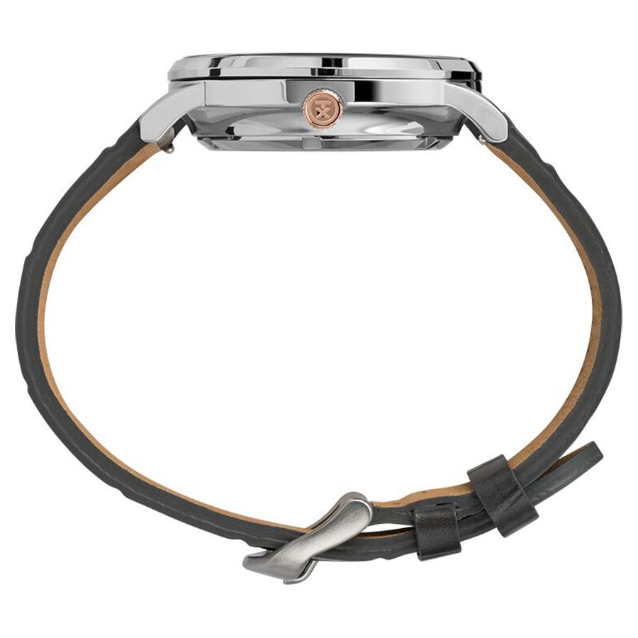 Timex TW2U11600 zegarek srebrny klasyczny Waterbury pasek