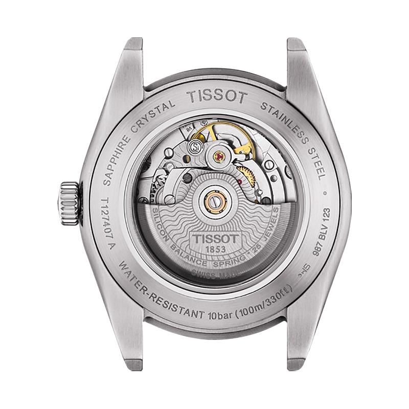 Tissot T127.407.16.031.00 męski zegarek Gentleman pasek