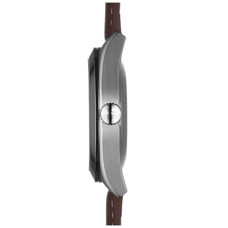 Tissot T127.407.16.031.00 zegarek srebrny klasyczny Gentleman pasek
