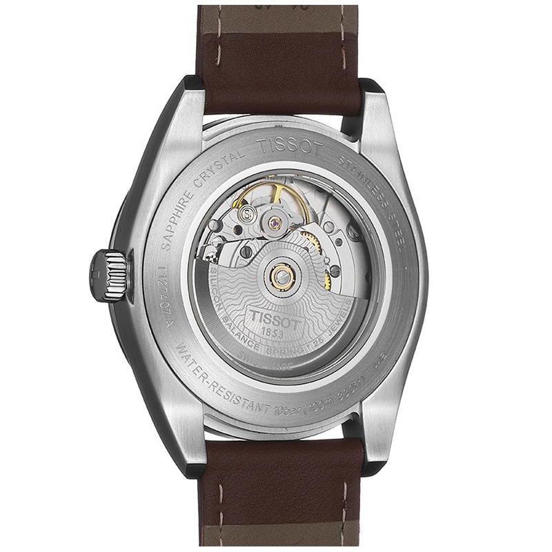 zegarek Tissot T127.407.16.031.00 automatyczny męski Gentleman GENTLEMAN POWERMATIC 80 SILICIUM