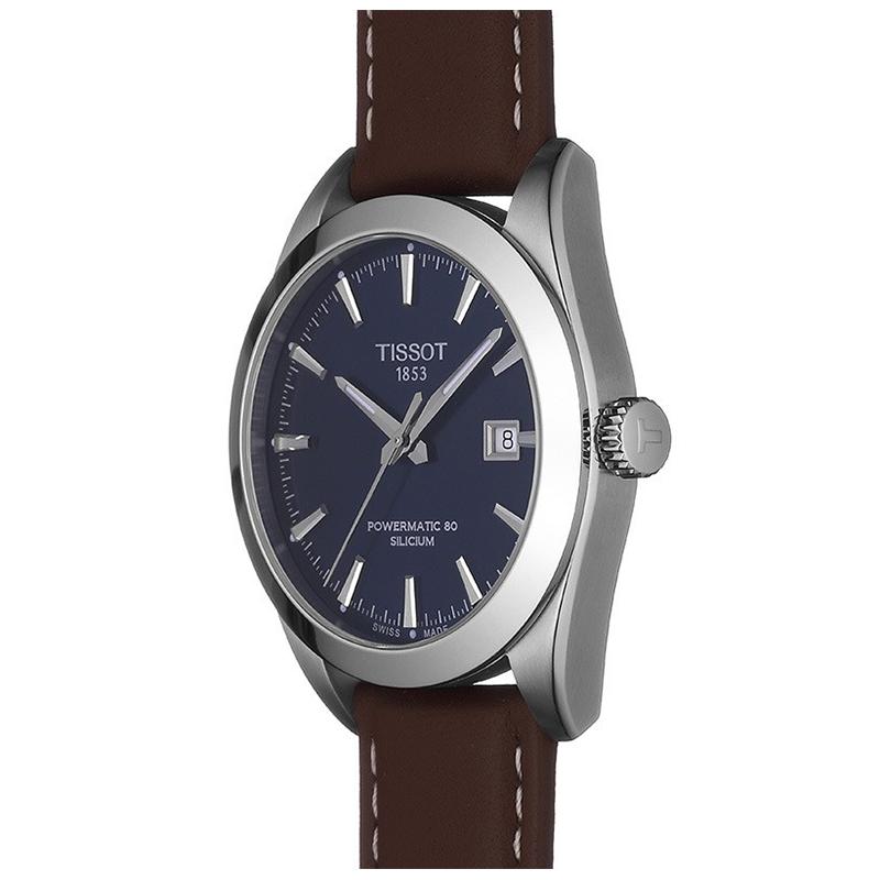 Tissot T127.407.16.041.00 GENTLEMAN POWERMATIC 80 SILICIUM zegarek klasyczny Gentleman