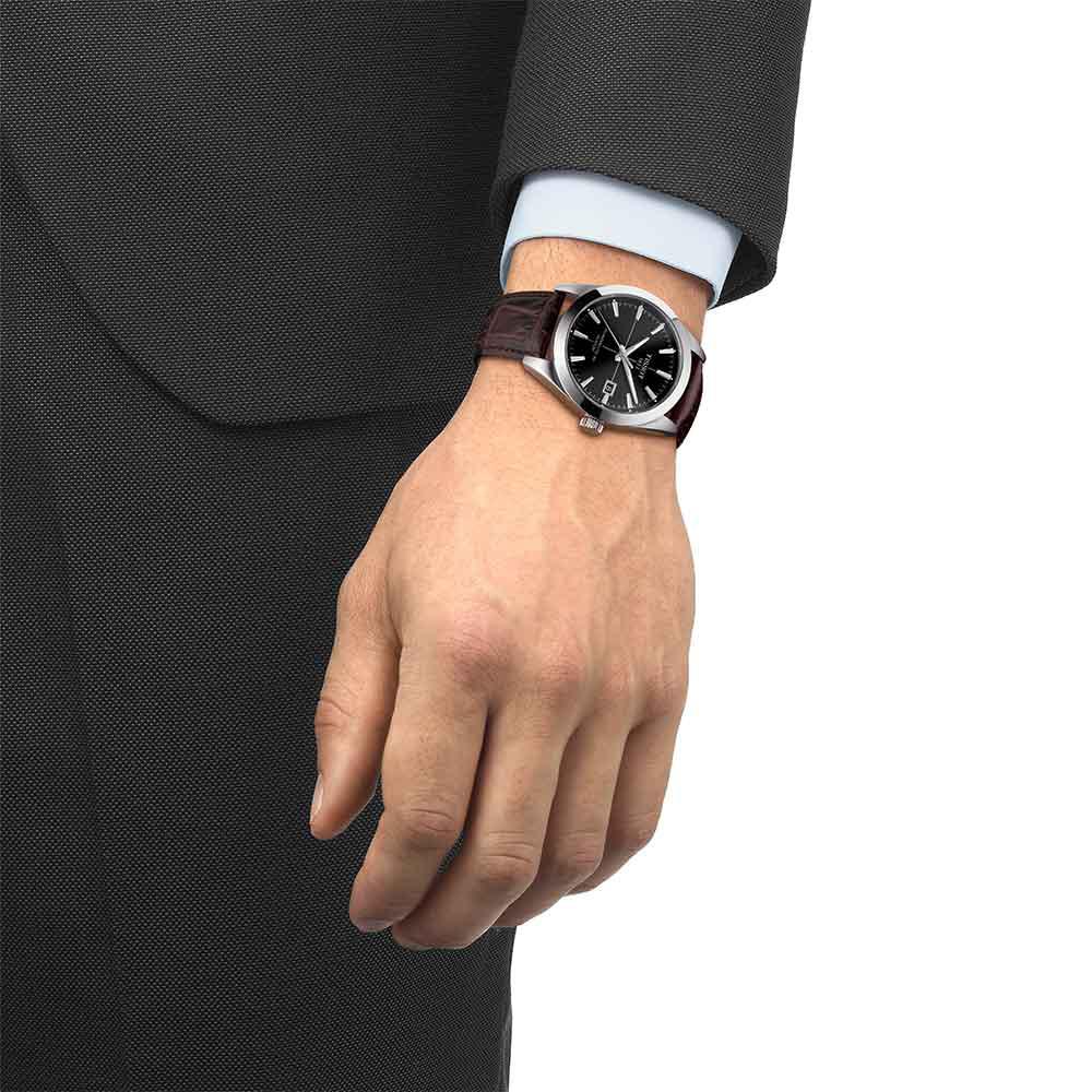 Tissot T127.407.16.051.01 męski zegarek Gentleman pasek