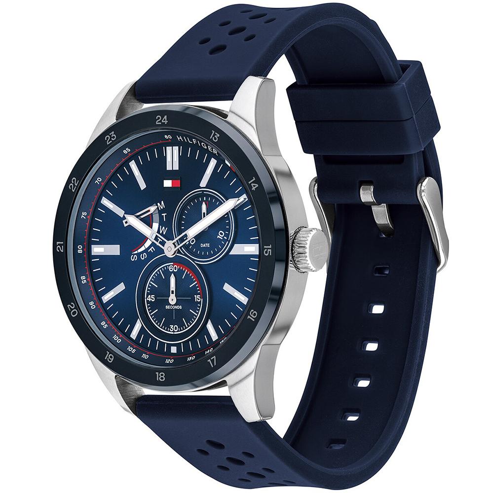 Tommy Hilfiger 1791635 zegarek srebrny klasyczny Męskie pasek