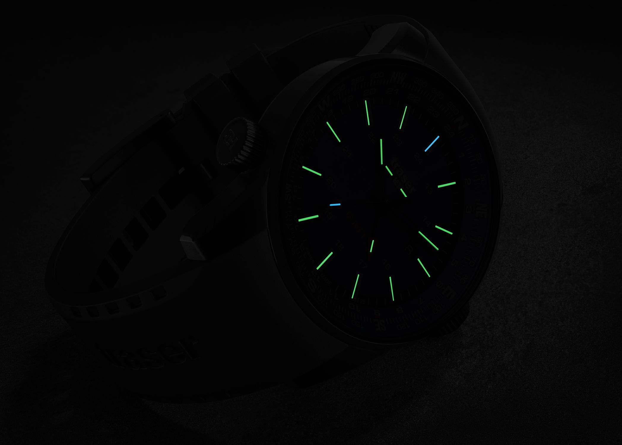zegarek Traser TS-109743 kwarcowy męski P68 Pathfinder P68 Pathfinder GMT Blue Rubber Strap