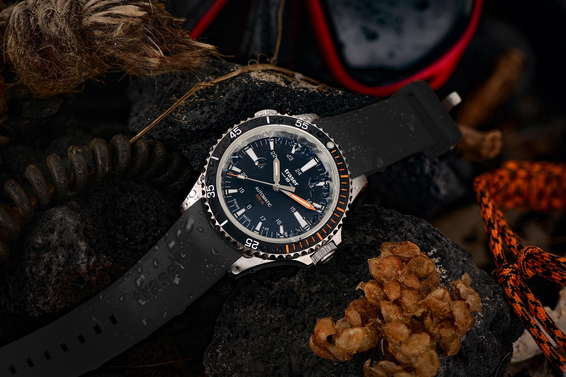zegarek Traser TS-110322 srebrny P67 SuperSub