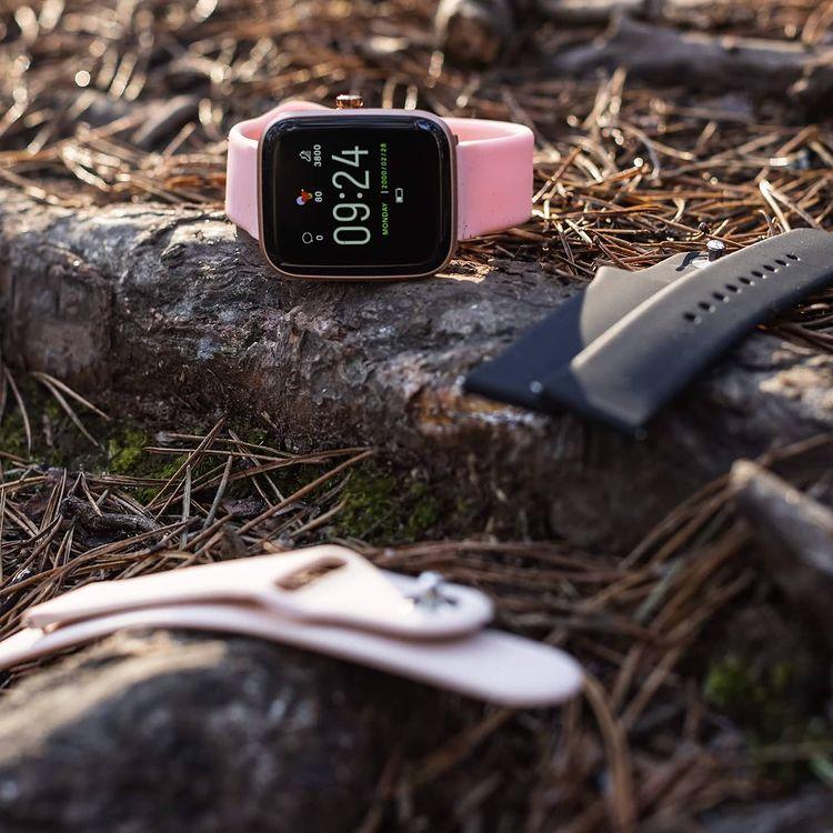 zegarek Vector Smart VCTR-31-01RG-01PK 42mm Fioletowy damski damski z termometr Smartwatch