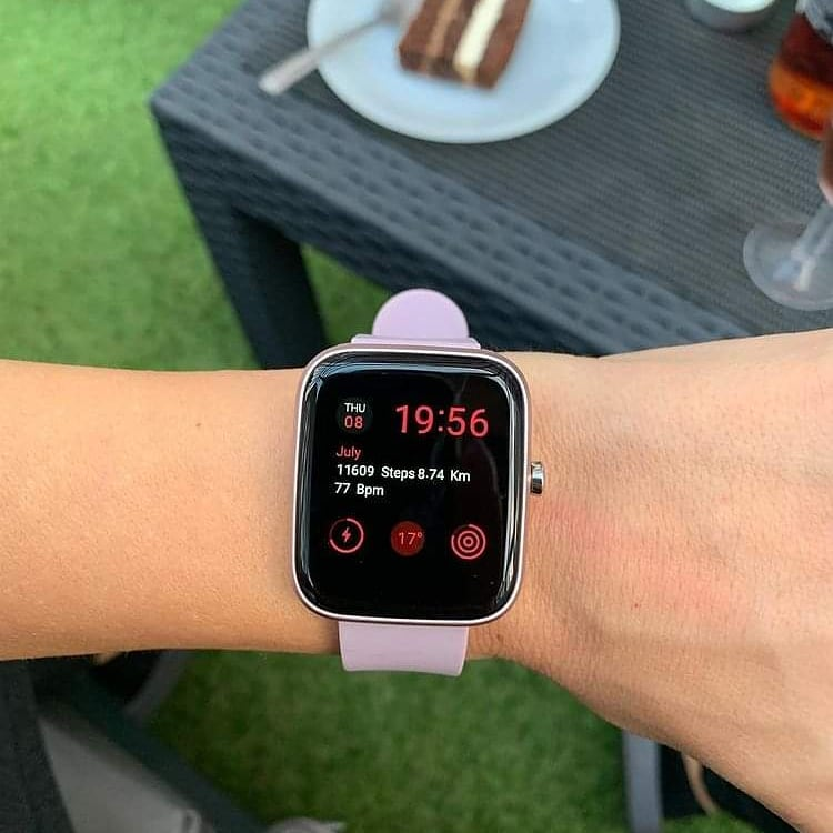 zegarek Vector Smart VCTR-33-03BK-01PK 42mm Fioletowy damski damski z krokomierz Smartwatch