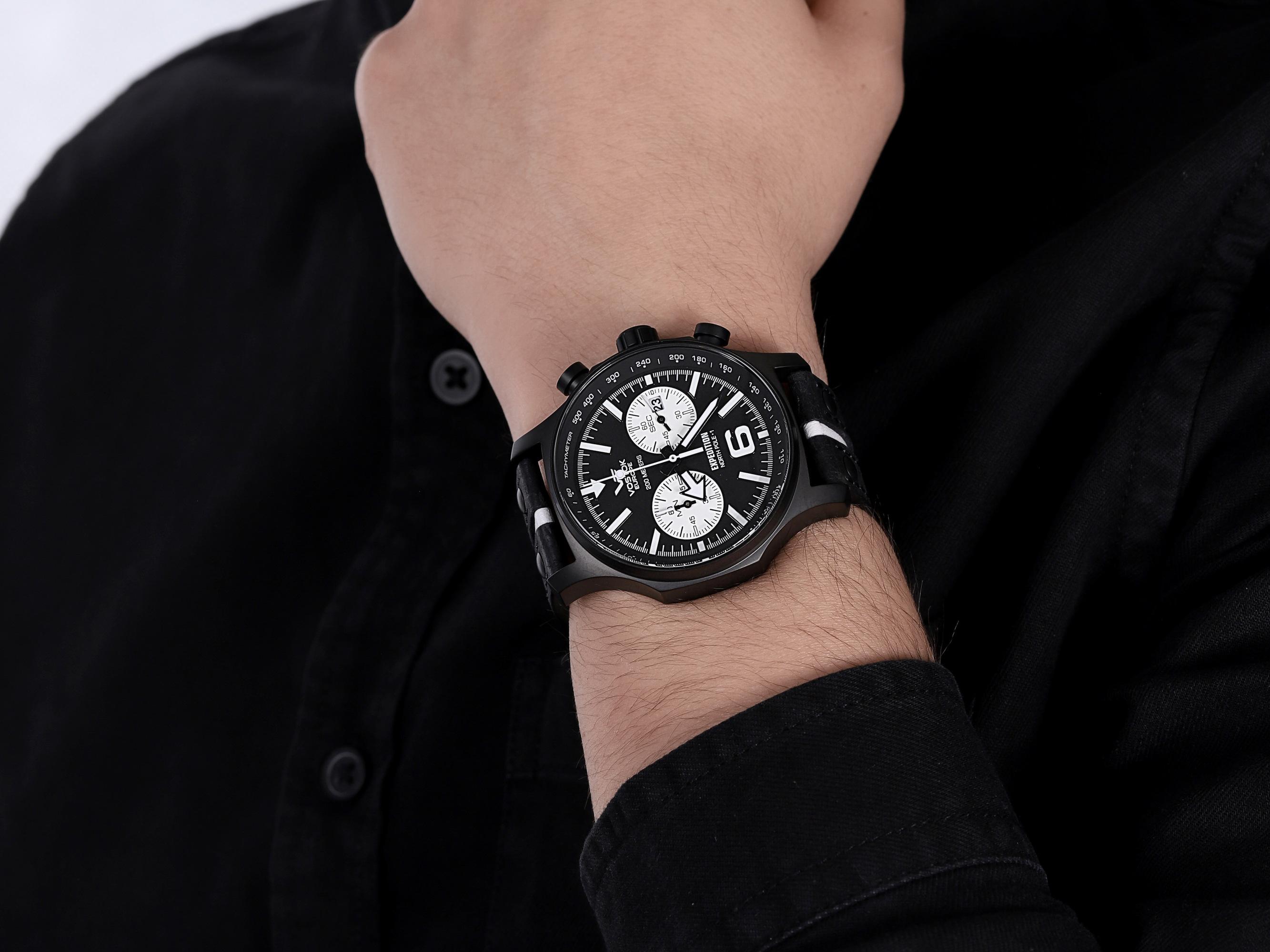 zegarek Vostok Europe 6S21-5954199 Expedition Chrono męski z tachometr Expedition