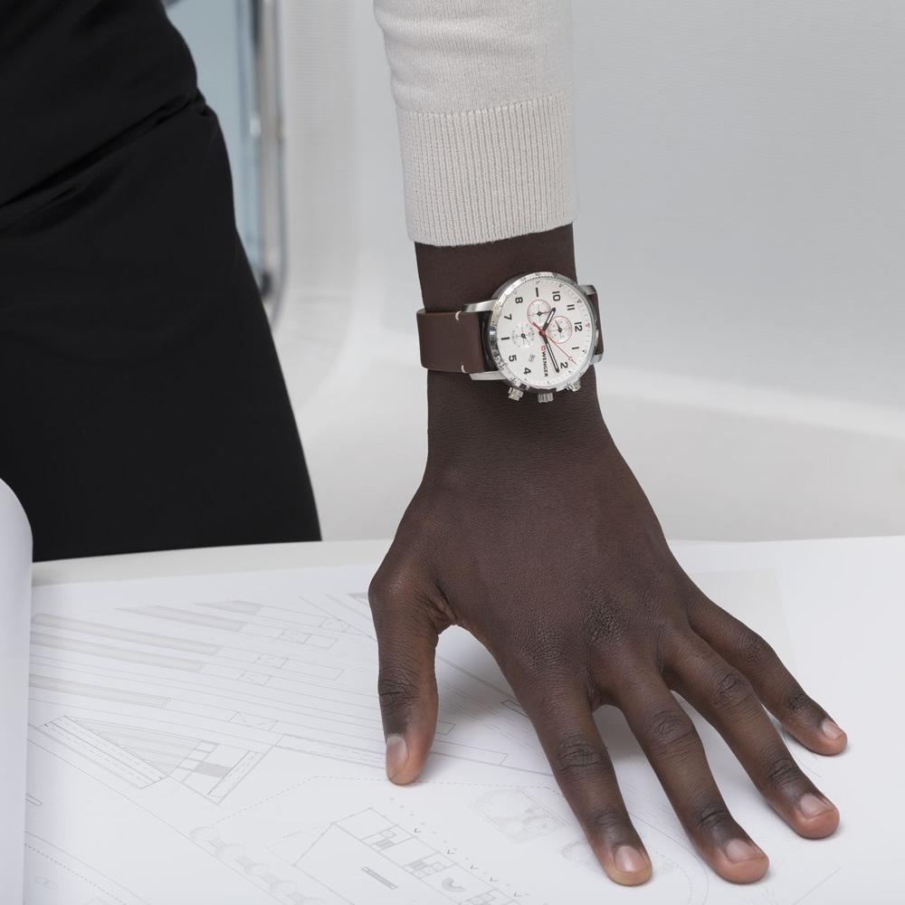 zegarek Wenger 01.1543.113 Attitude Chrono męski z tachometr Attitude