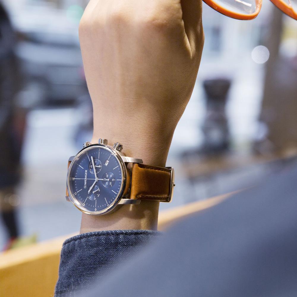 zegarek Wenger 01.1743.104 Urban Classic Chrono męski z chronograf Urban