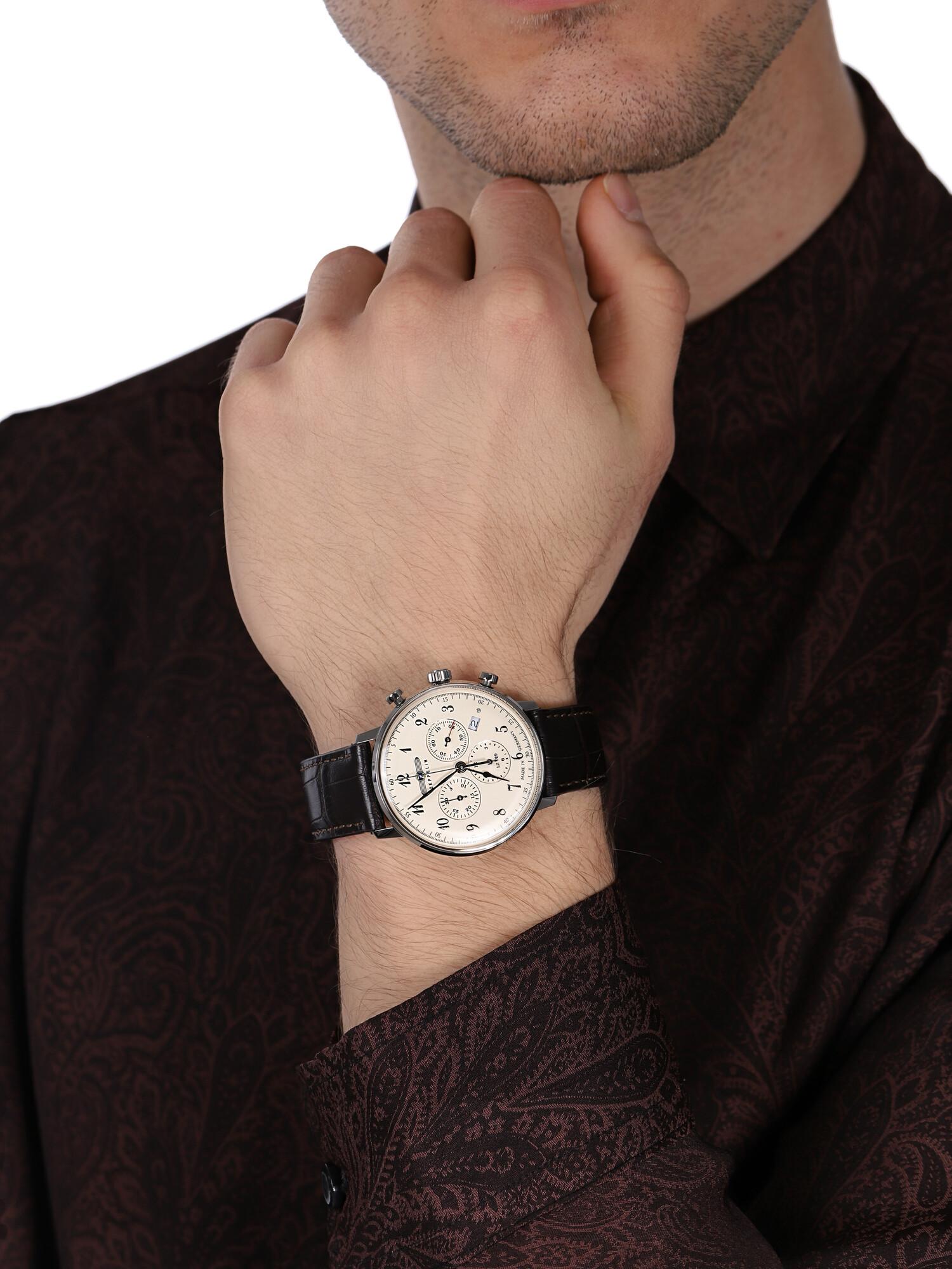 zegarek Zeppelin 7086-4 LZ129 Hindenburg Quarz męski z chronograf Hindenburg