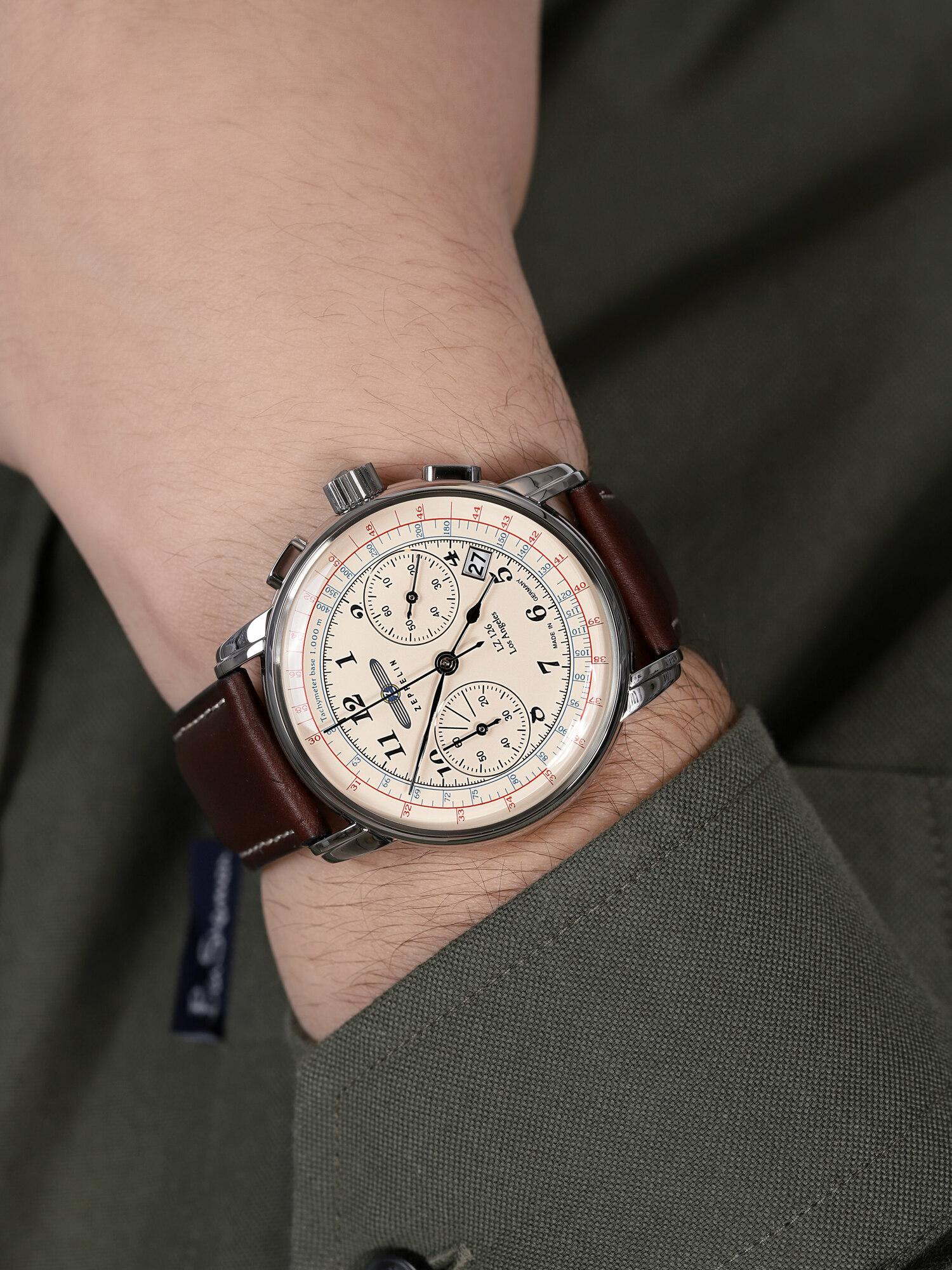 zegarek Zeppelin 7614-5 kwarcowy męski Los Angeles Los Angeles