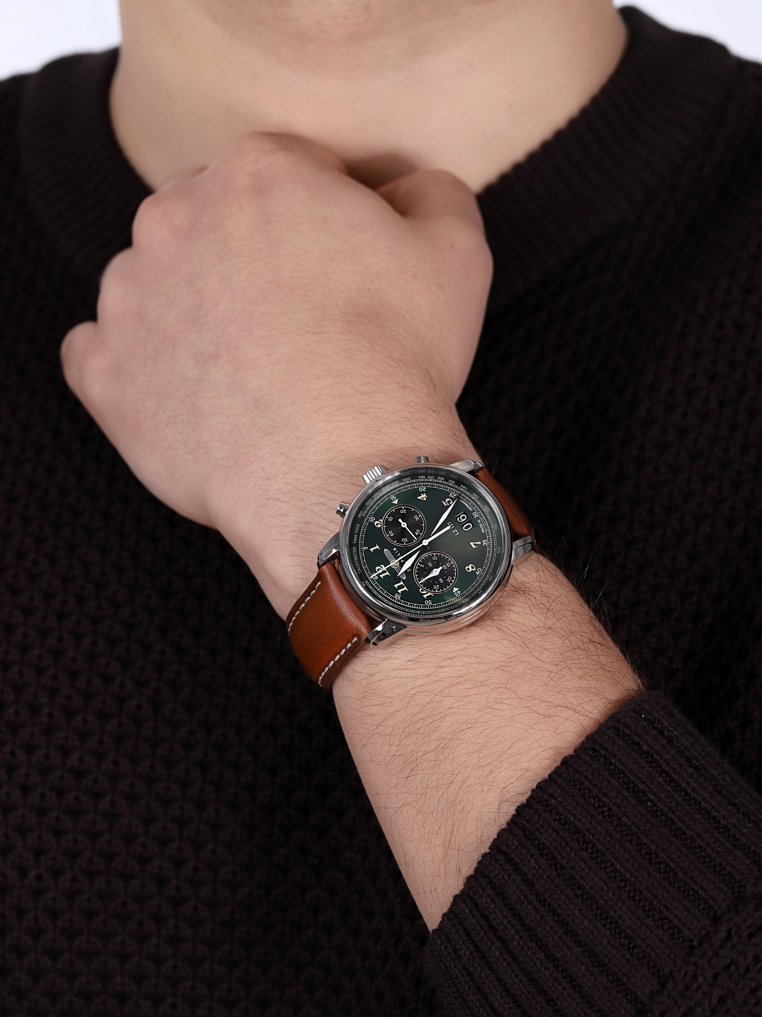zegarek Zeppelin 8684-4 Count LZ127 Quartz męski z tachometr Count