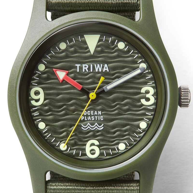 Triwa TFO101-CL150912 zegarek zielony klasyczny Ocean Plastic pasek